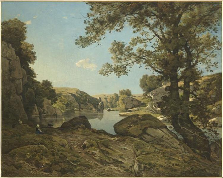 Qui a peint  Le saut-du-loup, vue prise dans l'Allier  ?