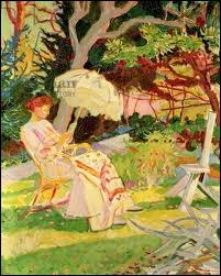 Qui a peint  Liseuse au jardin  ?