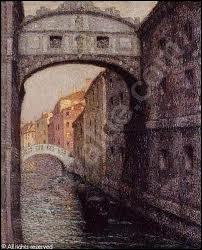 Qui a peint  Le pont des soupirs, Venise  ?