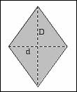 La petite diagonale d'un losange (d) mesure 10 cm, l'aire de ce losange mesure 200 cm². Quelle est la mesure, en cm, de la grande diagonale (D) ?