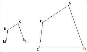 Les mesures d'un quadrilatère sont : 4 cm, 10 cm, 16 cm et 24cm. Lors de l'agrandissement, le côté le plus grand mesure 72 cm. Quelles sont les mesures des 3 autres côtés ?
