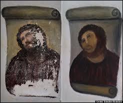 Durant l'été 2012, qui a restauré d'une façon très personnelle le Christ de Borja, une oeuvre du XIXe siècle ?