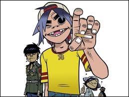 Comment s'appelle ce groupe virtuel emmené par le chanteur de Blur et dont les membres sont représentés par des personnages de bandes dessinées ?