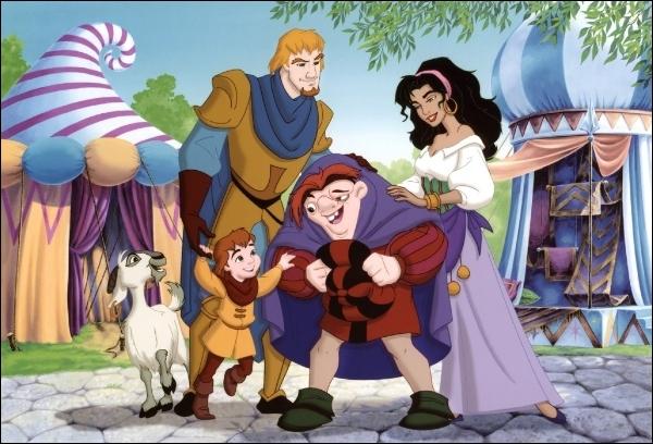 Dans Le bossu de Notre-Dame, qui sont les meilleurs amis de Quasimodo ?