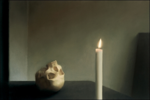 Vanité : skull with candle, 1983