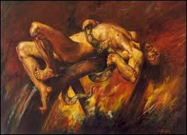 Quel personnage de la mythologie grecque a été condamné à être attaché à une roue enflammée, tournant éternellement dans les enfers ?