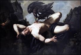 Quel personnage de la mythologie grecque a été condamné à être enchaîné au sommet d'une montagne du Caucase et à se faire dévorer le foie, qui renaissait éternellement, par un aigle ?