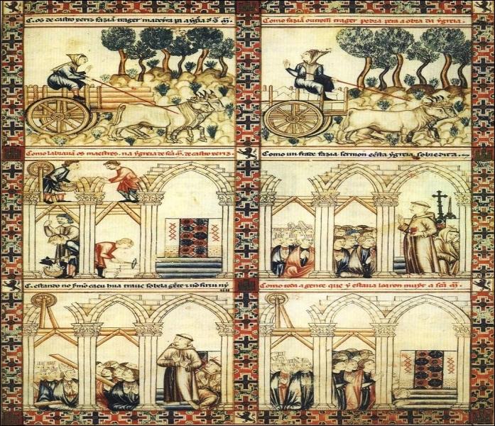 """Ce roi commanda les illustrations des """"Cantigas de Santa María"""". Il rédigea lui-même les 427 poèmes en galaïco-portugais ou langue de prestige du lyrisme médiéval. Qui est-il ?"""