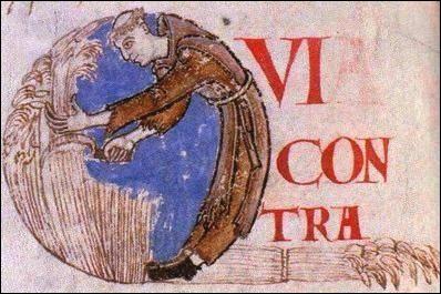 Cette miniature d'un manuscrit de Cîteaux montre un moine faisant la moisson en robe de bure brune. Plus tard, ils se vêtiront de blanc. Pour quelle raison ?