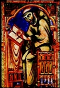 Voici l'autoportrait d'EEadwine, moine de Christchurch à Canterbury. Où se trouve cette localité ?