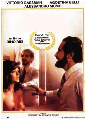 Film italien de Dino Risi sorti en 1974 avec Vittorio Gassman, Alessandro Momo, Agostina Belli ... .