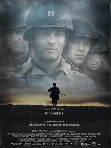 Film de guerre américain réalisé par Steven Spielberg en 1998 avec Tom Hanks, Tom Sizemore, Edward Burns, Matt Damon, Barry Pepper... .