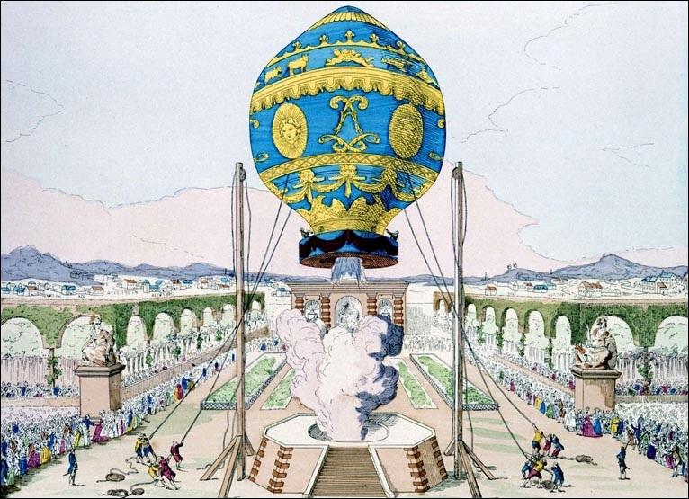 Le premier vol des frères Montgolfier, c'était en...