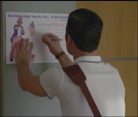 Saison 4 épisode 3 : Blaine s'inscrit pour être le président du lycée McKinley contre Brittany. Qui gagne ?
