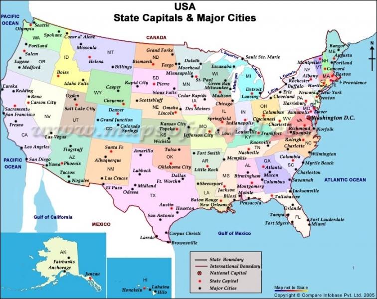 Quel est le nombre d'Etats aux USA ?