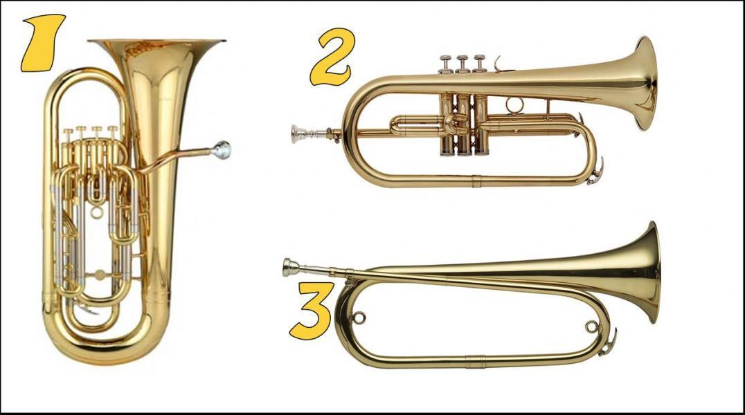 Lequel de ces cuivres est un bugle ?