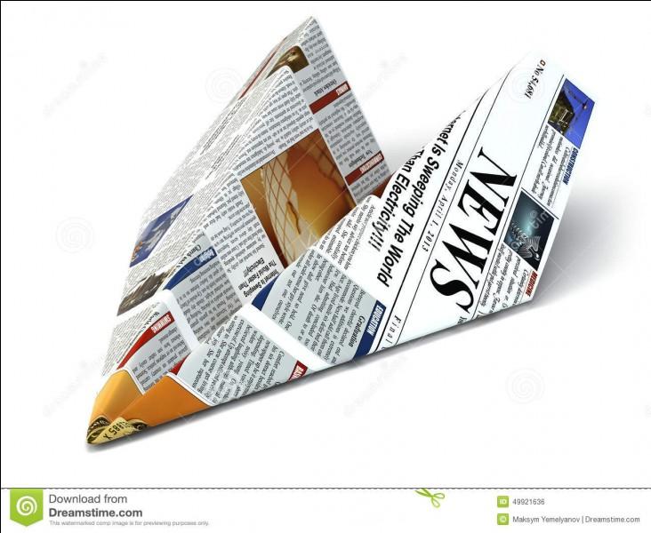On imagine qu'un journal disparaît très vite dans la nature. Oui, mais il faut quand même :