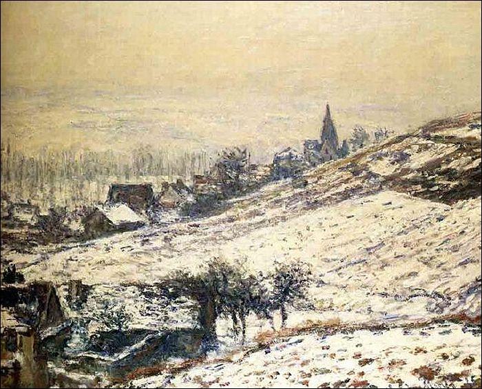 Qui a peint L'hiver à Giverny ?