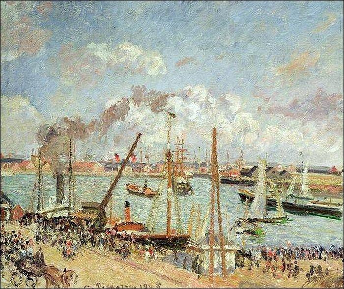 Qui a peint Le Havre, port par temps ensoleillé ?