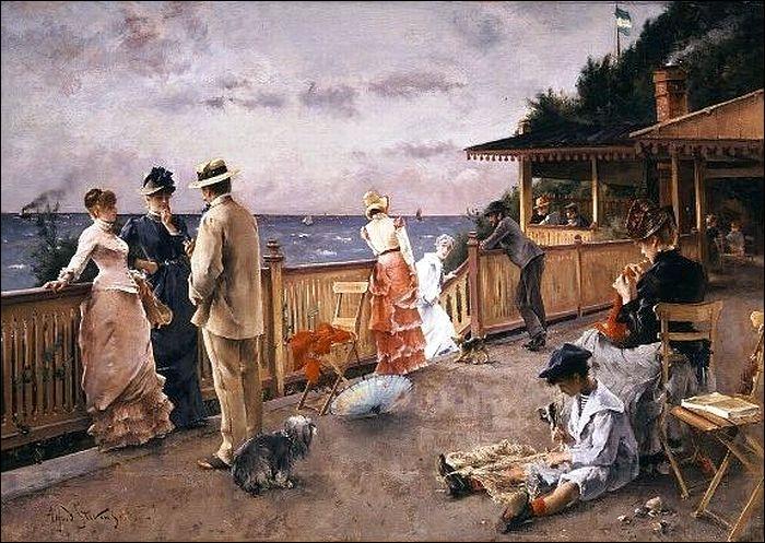 Qui a peint Sainte Adresse villa des falaises ?