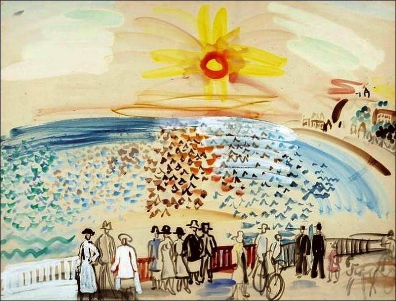 Qui a peint Coucher de soleil sur Sainte-Adresse ?