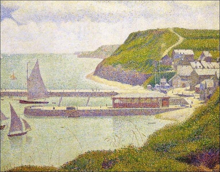 Qui a peint Port en Bessin avant port marée haute ?