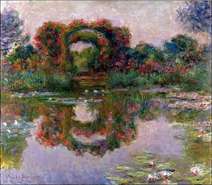 Qui a peint Arbres en fleurs dans le jardin de Giverny ?