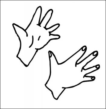Les mains sont des aides naturelles.
