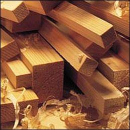 Quel est le nom du bois léger avec lequel on fabrique les modèles réduits ?