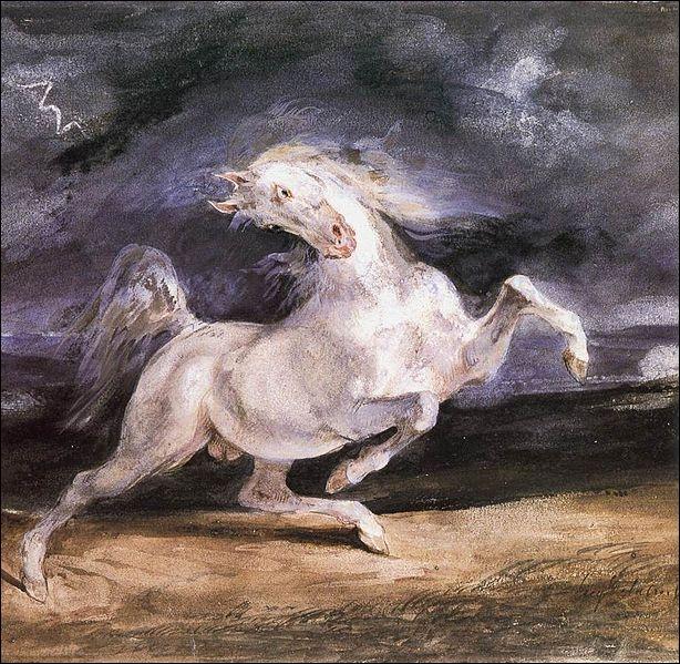 Qui a peint Cheval effrayé par un orage ?