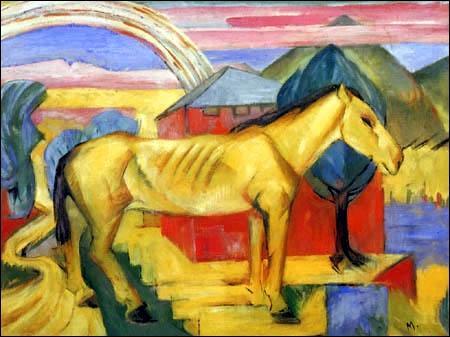 Qui a peint Le cheval jaune ?
