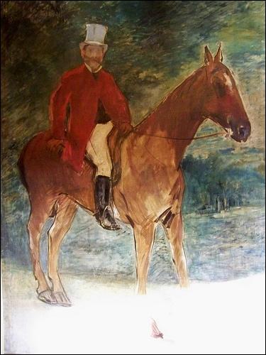 Qui a peint Monsieur Arnaud à cheval ?