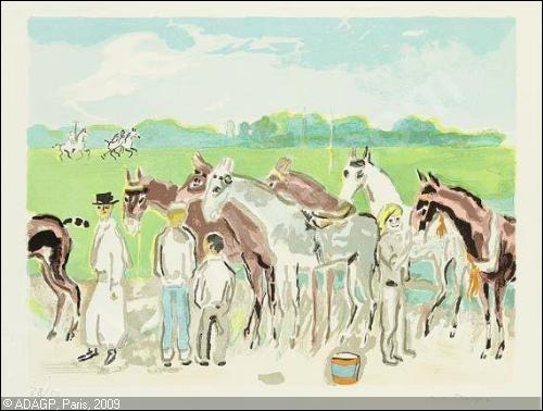 Qui a peint Deauville, soins donnés aux chevaux de courses ?