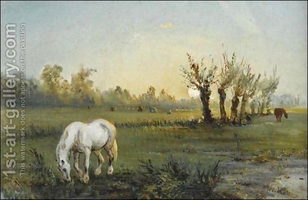Qui a peint Cheval blanc dans un pré ?