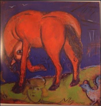 Qui a peint Le cheval rouge ?