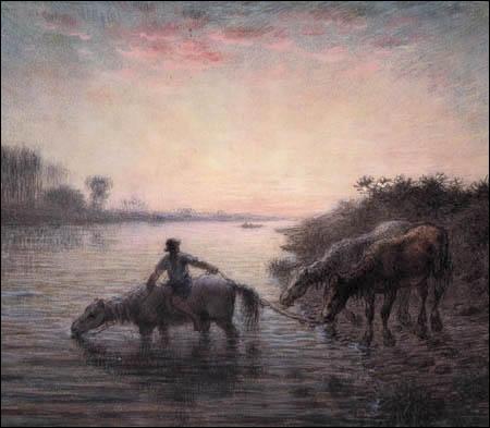 Qui a peint Bain des chevaux ?