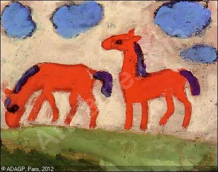 Qui a peint Petits chevaux ?
