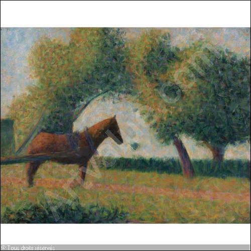 Qui a peint Le cheval attelé à la charette ?