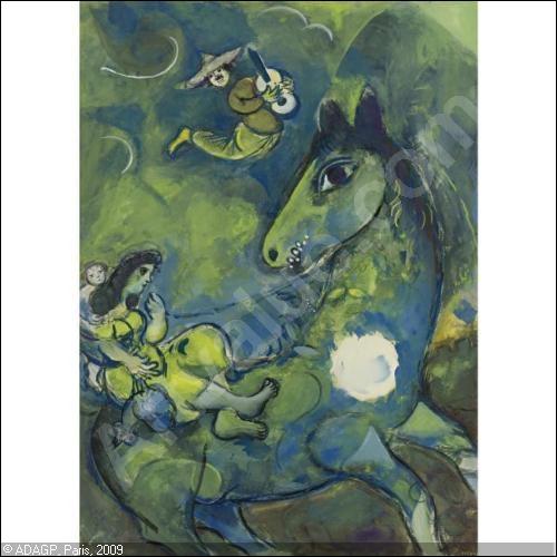 Qui a peint Cheval à la lune ?