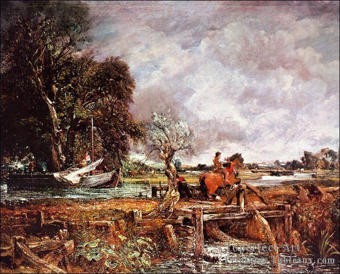 Qui a peint cheval romantique au paysage ?