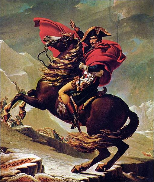 Qui a peint Bonaparte franchissant le grand saint Bernard ?