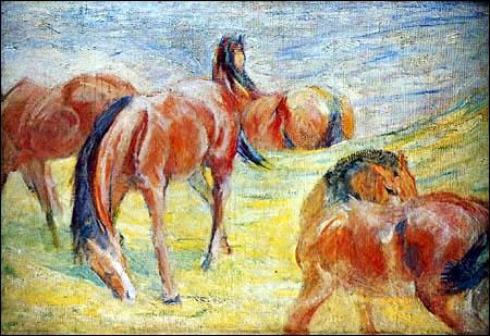 Qui a peint Chevaux sur le pâturage ?