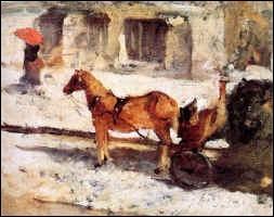 Qui a peint Cheval rue de Paris ?