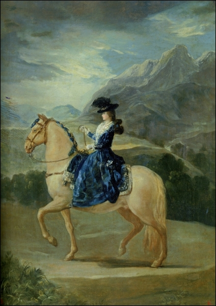 Qui a peint Maria Theresa Vallabriga à cheval ?