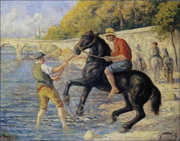 Qui a peint Deux chevaux en bord de mer ?