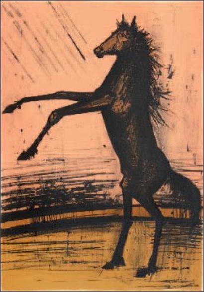Qui a peint Cheval cabré ?