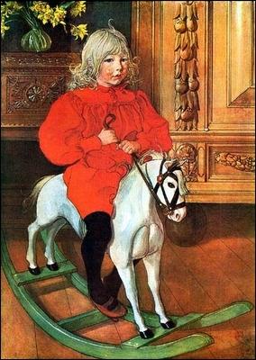 Qui a peint Murre sur un cheval à bascule ?