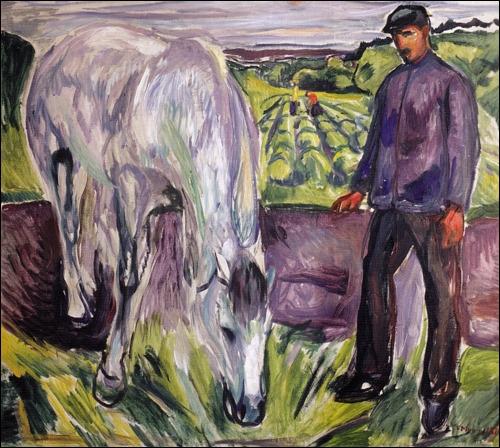 Qui a peint Homme avec un cheval ?