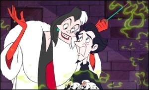 Où finit Cruella qui a voulu s'en prendre aux chiots ?