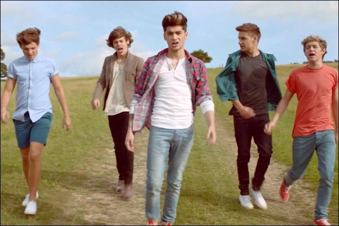 Quelle est la chanson de ce clip chantée par les One Direction ?